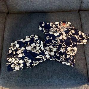 Hawaiian shirt and shorts set- size 12 mo